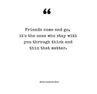 Friendship Through Thick And Thin Quotes