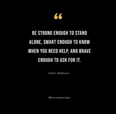 Standing Alone Is Better Quotes