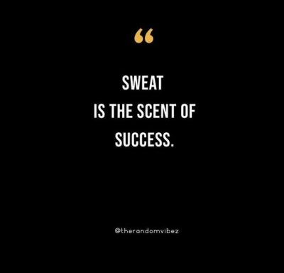 Sweat Quotes On Workout
