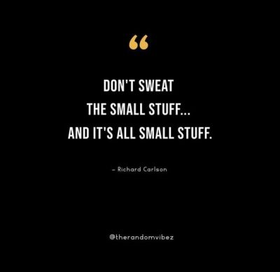 don't sweat the small stuff quotes