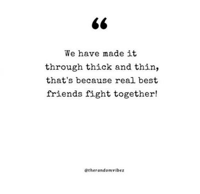 friends through thick and thin quotes