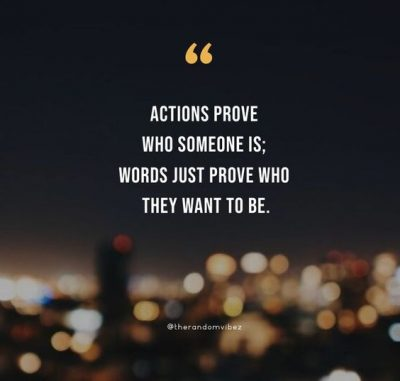words vs actions quotes
