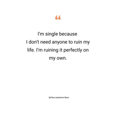 Funny Being Single Quotes