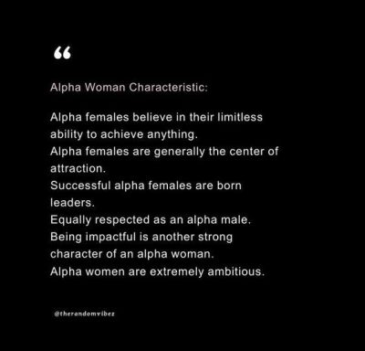 Inspirational Alpha Female Quotes On Success