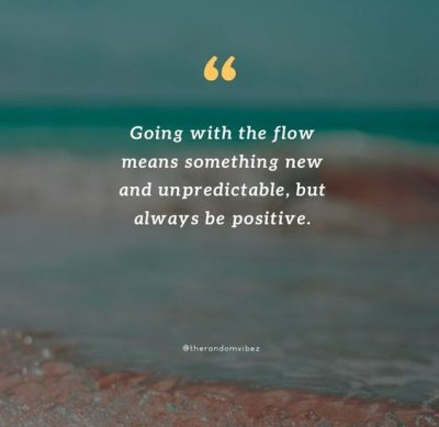 Inspirational Go With The Flow Quotes