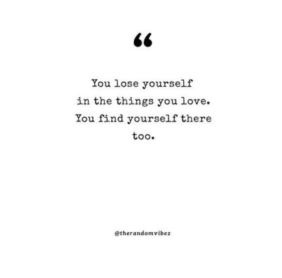 Lost Myself Quotes