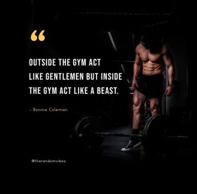 Ronnie Coleman Gym Quotes