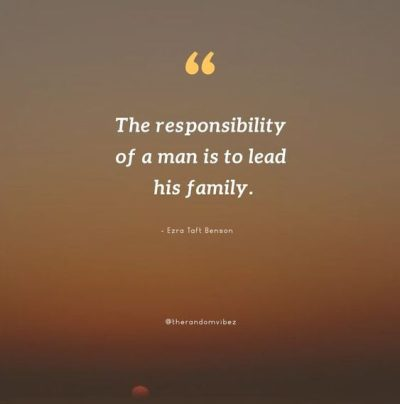 responsibility of a man in the family